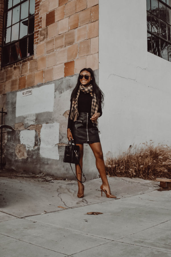 The Faux Leather Skirt I Don't Hate