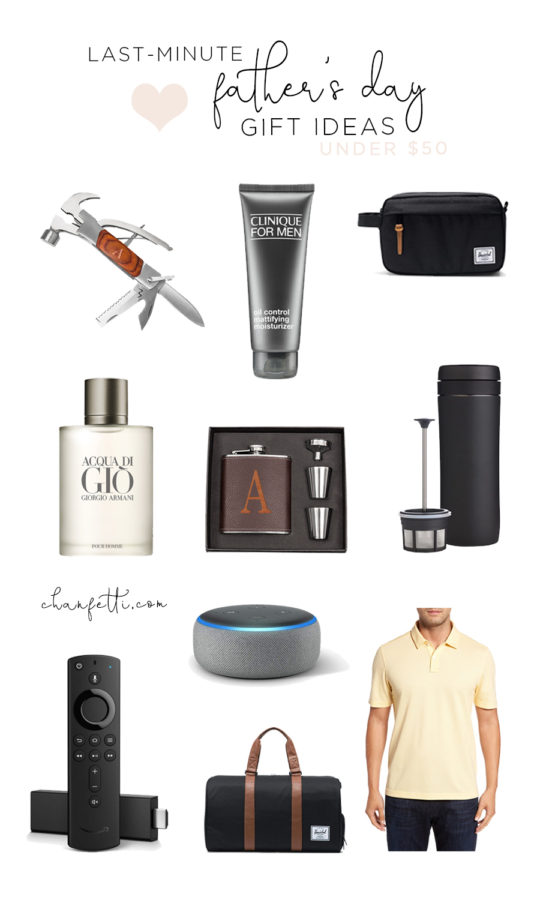 Last Minute Father's Day Gifts Under $50 - Chanfetti by Brenna Anastasia