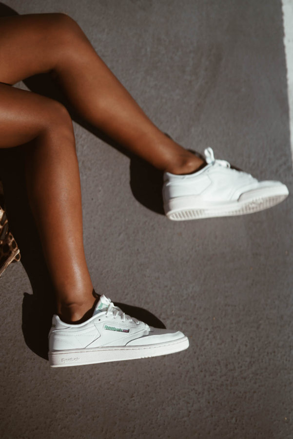 Vintage Sneakers and Leopard Print - Chanfetti Blog by Brenna Anastasia