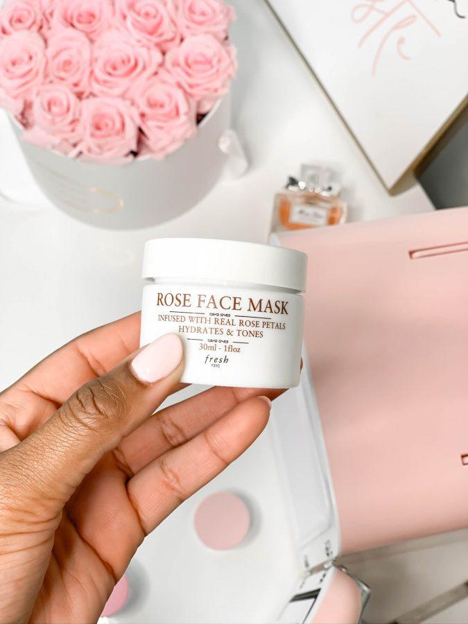 What's In My Skincare Fridge - Fresh Rose Face Mask - Brenna Anastasia