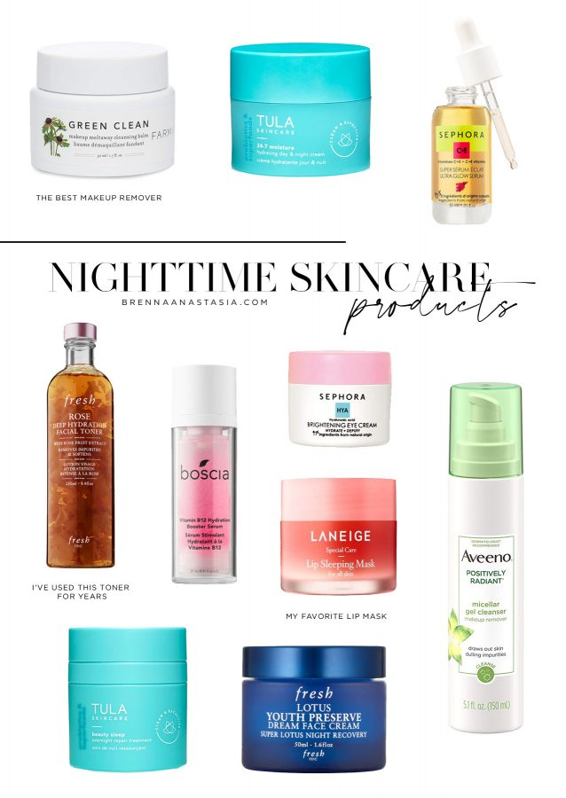 My Simple Nighttime Skincare Routine - Brenna Anastasia