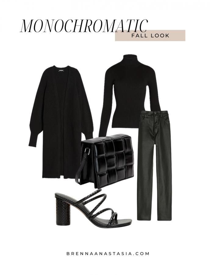 Monochromatic Fall Look - Brenna Anastasia Blog