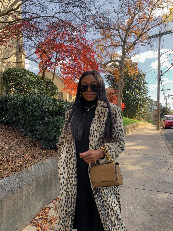 Leopard Print Coat From Walmart Fashion - Brenna Anastasia Blog