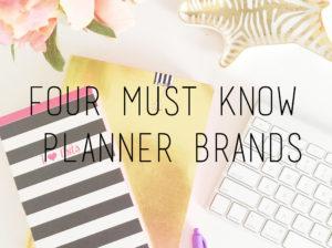My Favorite Planner Brands