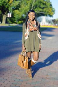 Fall Olive Dress