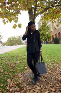 Black Vest + Plaid Flannel