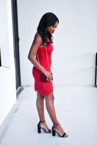 Red Lace for Valentine's Day - Chanfetti.com