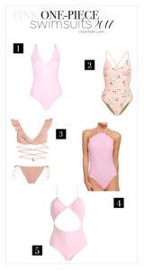 Pink One Piece Swimsuits Topshop - Chanfetti