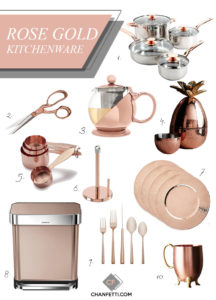 Rose Gold Kitchenware