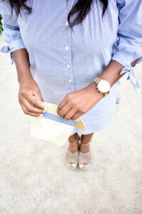 Light Blue Dress in Newport Beach - Chanfetti