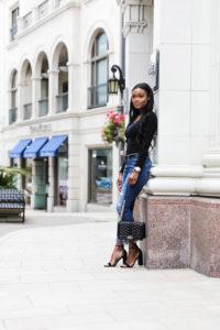 Black Fringe Jeans on Rodeo Drive - Chanfetti