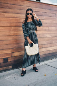 Black Striped Maxi