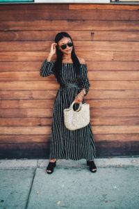 Black Striped Maxi