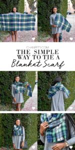 The Simple Way To Tie A Blanket Scarf - Chanfetti