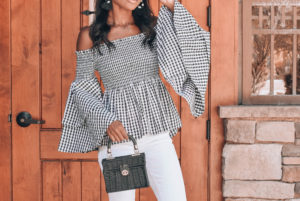 Gingham with Bell Sleeves
