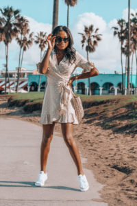 Ruffle Wrap Dress in Venice
