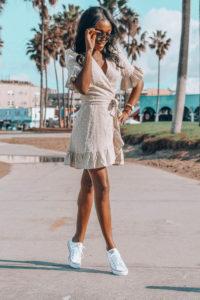 Ruffle Wrap Dress in Venice