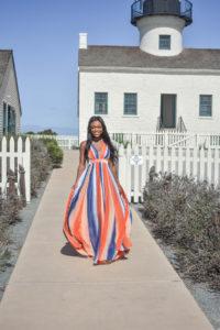 Red Dress Boutique Style Influencer - Brenna Anastasia