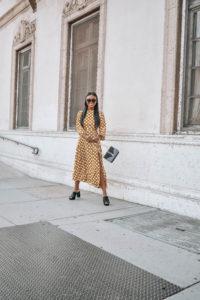 Polka Dot Midi Dress - Chanfetti Blog