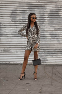 Leopard Print Dress with Topshop - Chanfetti Blog