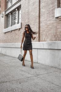 Button Up Black Dress