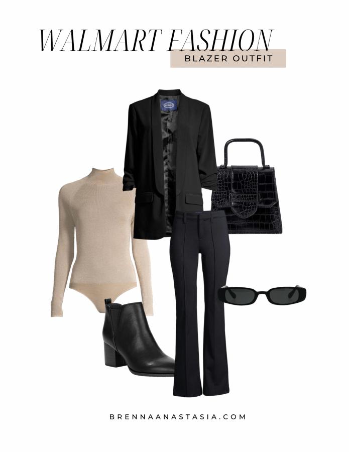 Walmart Fashion Blazer Outfit - Brenna Anastasia Blog