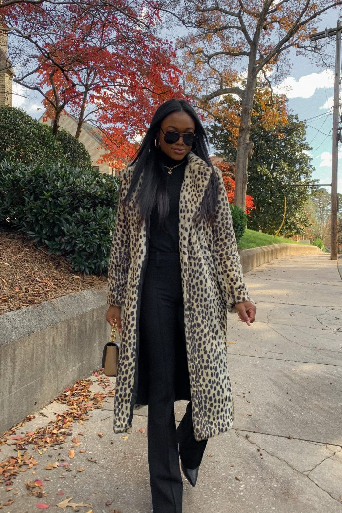 Leopard Print Coat From Walmart Fashion - Brenna Anastasia Blog