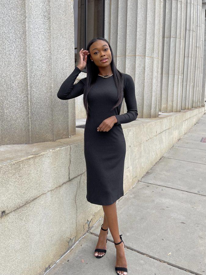 Long Sleeve Ribbed Dress - Brenna Anastasia Blog