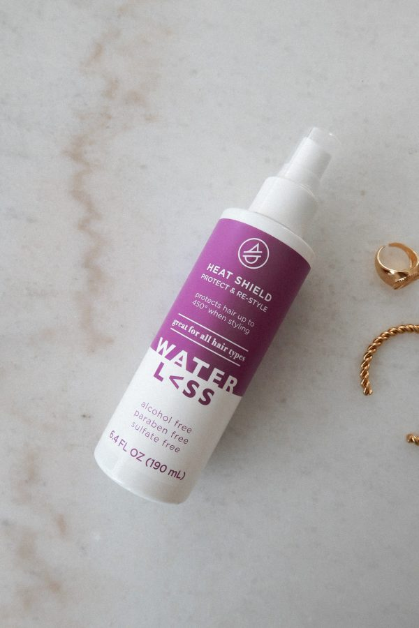 How I Refresh My Hair When It's Almost Wash Day - Waterl<ss Hair Care Heat Shield - Brenna Anastasia Blog