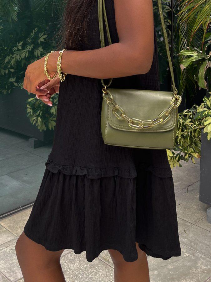 Green Shoulder Bag - Brenna Anastasia Blog