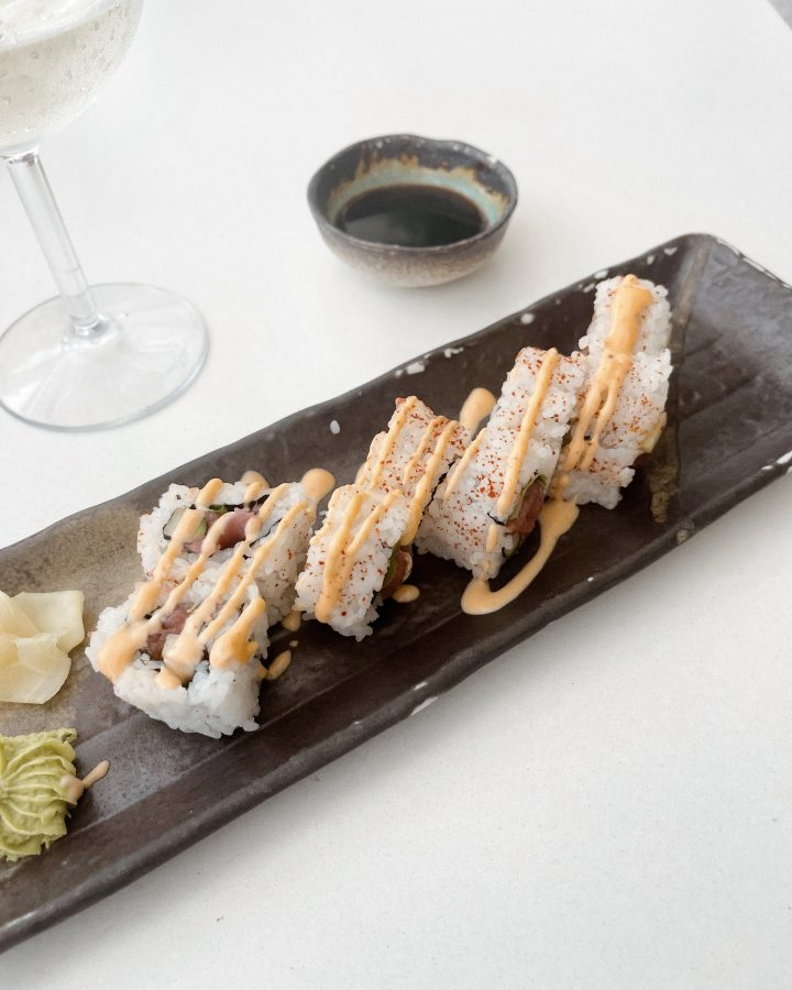 Spicy Tuna Roll at Watr at the 1 Hotel Rooftop - Brenna Anastasia Blog